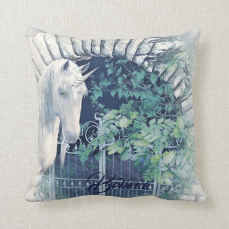Unicorn garden pillow