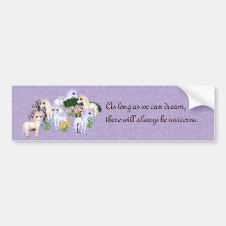 Unicorn Garden Pixel Art Bumper Sticker