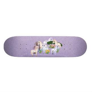 Unicorn Garden Pixel Art Skate Board Deck