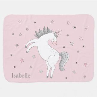 Unicorn Girl Baby Blanket