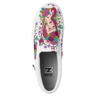 Unicorn girl slip on shoes