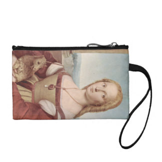 unicorn girl vintage painting fantasy art story coin wallet