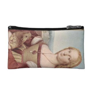unicorn girl vintage painting fantasy art story cosmetic bag