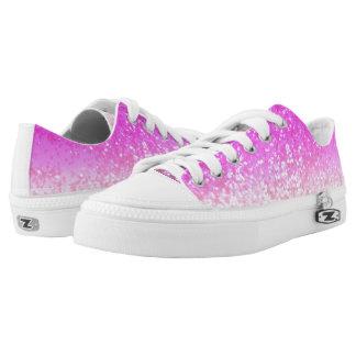 Unicorn Girls Glitter #1 #shiny #decor #art Low-Top Sneakers