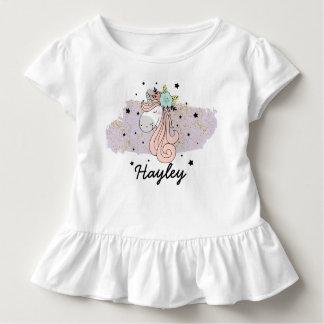 Unicorn Girls Toddler Ruffle Tee