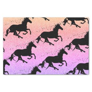 Unicorn Glitter Heart Tissue Paper