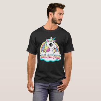Unicorn hail satan death metal rainbow T-Shirt