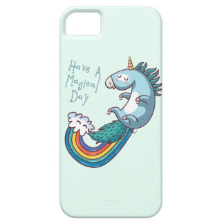 Unicorn have a magical day iPhone 5 cases