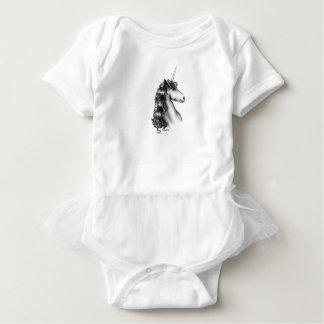 unicorn head baby bodysuit