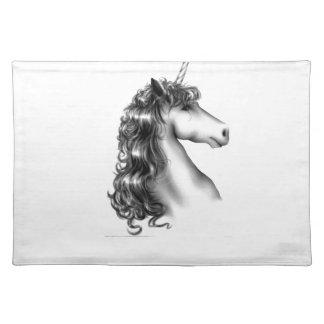 unicorn head placemat