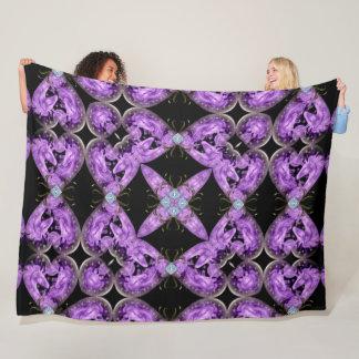 Unicorn heart Diamond Mandala Plush Fleece Blanket