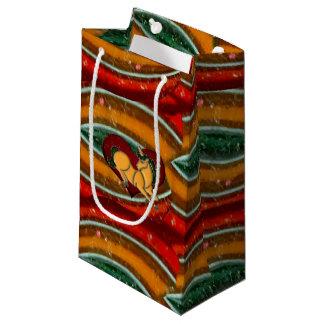 Unicorn Heart Rainbow Chains Small Gift Bag