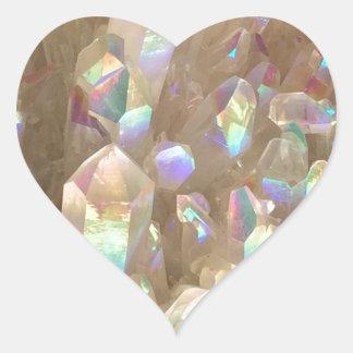 Unicorn Horn Aura Crystals Heart Sticker
