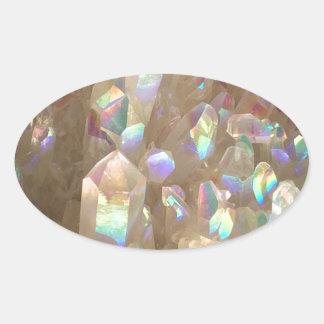 Unicorn Horn Aura Crystals Oval Sticker