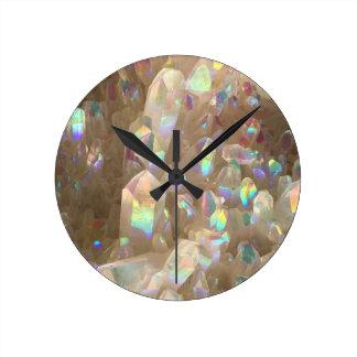 Unicorn Horn Aura Crystals Round Clock