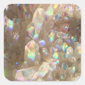 Unicorn Horn Aura Crystals Square Sticker