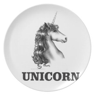 unicorn horse plate