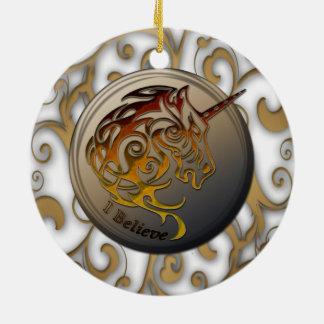 Unicorn (I believe) Ceramic Ornament