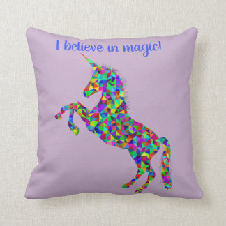 Unicorn I belive in magic pillow