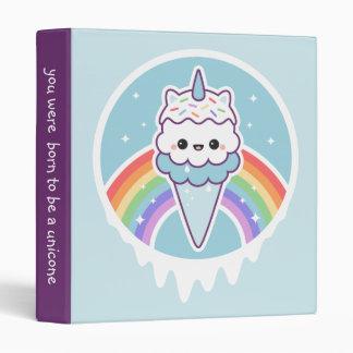 Unicorn Ice Cream Cone Vinyl Binders