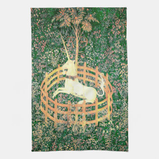 Unicorn In Captivity Kitchen Towel