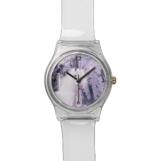 Unicorn in infrared photo background watch