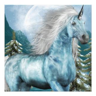 Unicorn in Moonlight Invitations