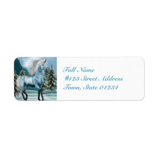 Unicorn in Moonlight  Mailing Labels