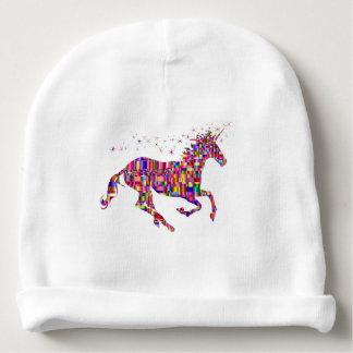 Unicorn in Multi Rainbow Colors Baby Hat Baby Beanie