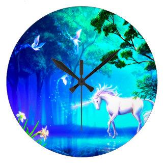 Unicorn In Paradise Wall Clocks