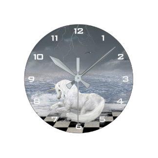 Unicorn in Surreal Seascape Wall Clock