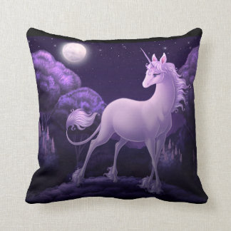 Unicorn In The Night Throw Pillow