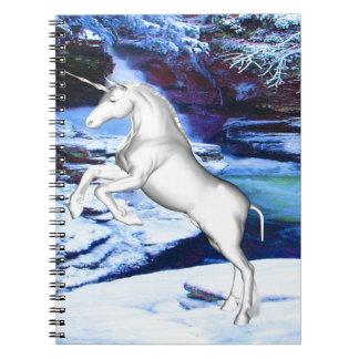 Unicorn in the Snow Notebooks