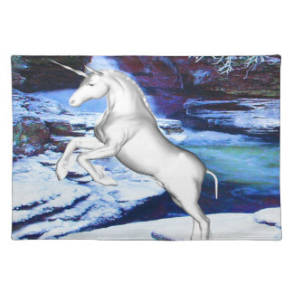 Unicorn in the Snow Placemat