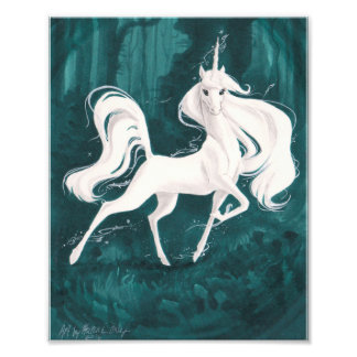 Unicorn in the Woods Photo Print