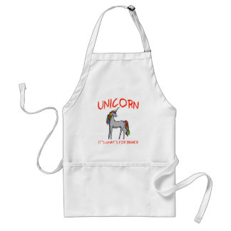 Unicorn It's What's For Dinner Standard Apron