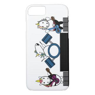 Unicorn Kawaii Punk Band iPhone 7 Case