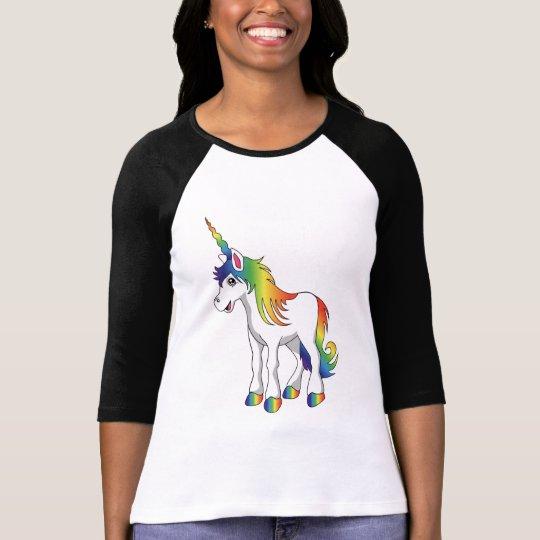 Unicorn Ladies Raglan T Shirt
