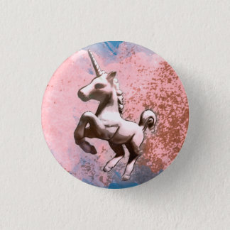 Unicorn Lapel Pin Button (Faded Sherbet)