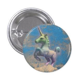 Unicorn Lapel Pin Button (Sandy Blue)