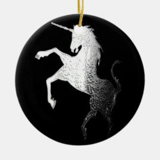 unicorn logo,glisten ceramic ornament