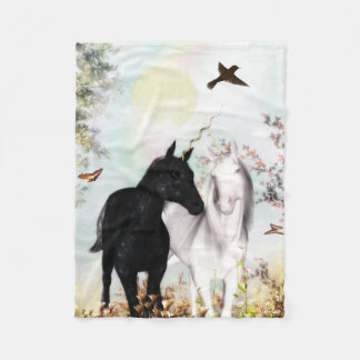 unicorn love  fleece Blanket