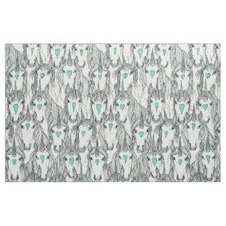 unicorn love indigo mint pearl fabric