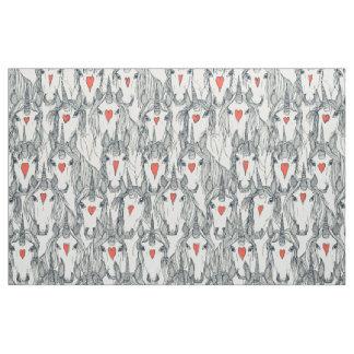 unicorn love indigo persimmon pearl fabric
