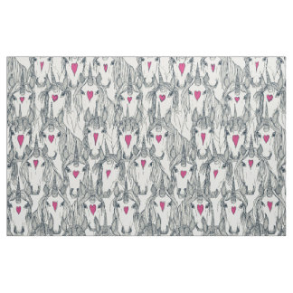 unicorn love indigo pink pearl fabric