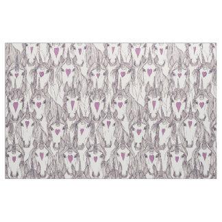 unicorn love indigo purple pearl fabric