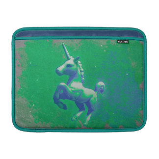 Unicorn Macbook Air Sleeve (Glowing Emerald)