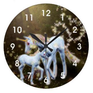 Unicorn Magic Large Clock