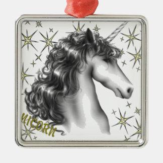 UNICORN MAGIC Silver-Colored SQUARE ORNAMENT