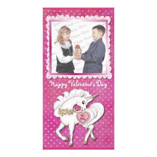 Unicorn Magic Valentine Photo Card Template